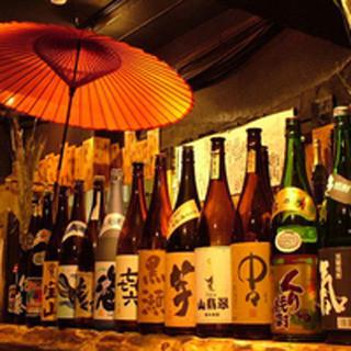 【日本酒にこだわる】種類豊富な飲物♪100種以上取り揃え