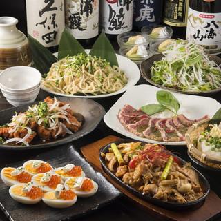 日本酒20種飲み放題付きコース好評です♪