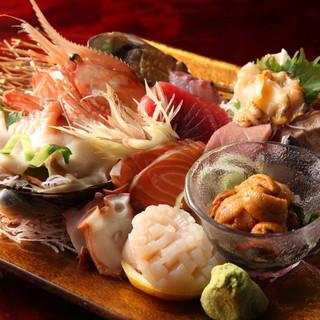 市場直送の新鮮魚貝