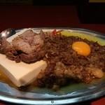 立川マシマシ - マシライス(ライスを豆腐に変更)+豚マシ