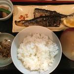 奈加山 - さんま定食(1000円)