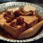 魚金 - お通し☆揚げ出し豆腐のきのこ餡かけ♪