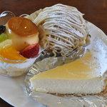 HOMEMADE CAKE SHOP さいもん - ア・ラ・モード290円、モンブラン250円、チーズケーキ240円