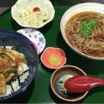蕎麦処 瑠瞳 - 焼き鳥丼セット  900円