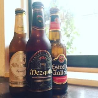 人気のスパニッシュビールで乾杯!
