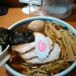 たけちゃんにぼしらーめん - スペシャルラーメン(平打ち)麺ダブル