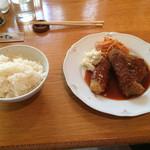 51695477 - サンセール定食                       三種類のビーフカツ                       ¥1,230                       左からサーロイン、スジ、フィレ