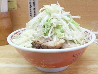 ラーメン二郎 環七新代田店 - 小ラーメン+野菜ニンニク