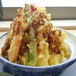 白木海岸のレストラン - 豊の天丼:1200円!