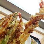 白木海岸のレストラン - この大きな海老が3匹も♡