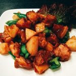 金龍 - 鶏肉とピーマンの炒め(高麗鶏丁)