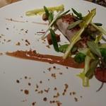 51712943 - イサキ、ルバーブ、緑豆