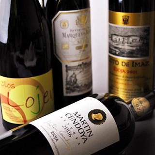 ソムリエが厳選したスペインワインを豊富に取り揃えております。