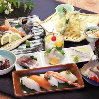 素材にこだわった格別な寿司