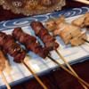 一田屋 - 料理写真:焼鳥1本、砂肝3本、ナンコツ2本