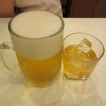 レストラン桂 - 生ビール 500円 & 梅酒ロック 400円