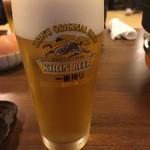 こま井亭 - ビール