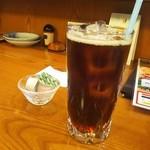お寿司セット<税込>810円の食後のアイスコーヒー(2016.06.01)