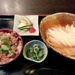 瀬戸内製麺710 - ひやかけ&牛飯