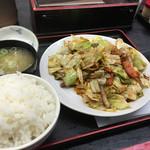 らーめん北彩 - 回鍋肉定食 700円