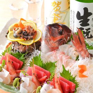 旬の味覚を堪能!産地より毎朝直送される旬鮮魚でご宴会。