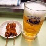 のんきや - どて焼き&生ビール
