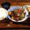 清花 - 料理写真:ランチメニュ〜(^o、^)/黒酢酢豚¥600円