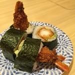 大起水産回転寿司 - 娘1 大好物 大海老フライ巻