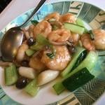 広州園 - 清炒蝦仁(小エビの塩味炒め)