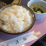 焼肉レストラン清光 - 料理写真:白米大盛り