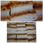 万かつサンドコーナー - ◆万かつサンド(価格失念) 食パンにサンドされているのは、厚みのある「ロースカツ」