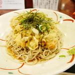 51729838 - 真鯛とエンドウ豆のかき揚げの冷たい蕎麦