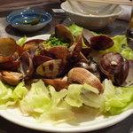 魚金 - あさりバター(480円)♪ぷりっぷりで旨みの濃いあさりです☆