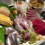 魚金 - じゃーん♪刺身六点盛り(1980円)☆鮮度抜群です!!