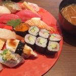 江戸前寿し食べ放題 漁師料理の店 うみめし - 満腹にぎり