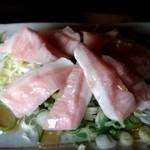 お好み焼道場 八代 - 豚トロ塩だれ焼き