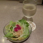 肉の万世 - グラスワイン432円