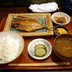 ひもの あん梅 - 「あじひもの定食」1000円