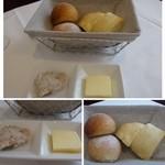 51741580 - 自家製パンと豚のリエット。