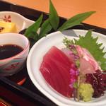 京料理 一輪 - 刺身二点とコーン豆腐