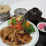 天塩川温泉 - 生姜焼き御膳