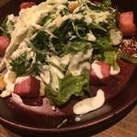 鉄板バルサンパチキッチン - 厚切りベーコンのシーザーサラダ
