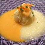 モナリザ - 2016年5月:新玉ねぎのローストとスープ仕立て 桜海老風味