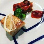 レストラン AKIOKA  - 留萌のヒラメムニエルとアンコウのトマトソース