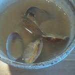 51758254 - あさりつけ麺(税込980円) つけ汁アップ