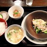 5176355 - 本日の日替わり 豚バラと小松菜セット 冬瓜スープ