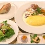ノブレス オブリージュ - 日替わりランチ 前菜、サラダ、パンorライス付き