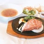 マーマレードカフェ - 特産黒田庄和牛のサーロインステーキセット