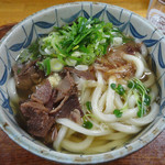 純手打 うどん 勝一 - 「肉うどん(大盛)」560円(2016.2)