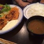 洋食 ひなた - 海老カツ定食(1,080円)_2016年5月
